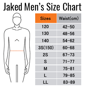 男性・ジュニア男子サイズ表