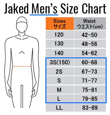 男子サイズ表