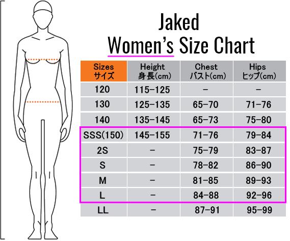 女子サイズ表
